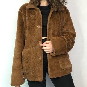 Reversible Brandon Thomas Plush Teddy Coat